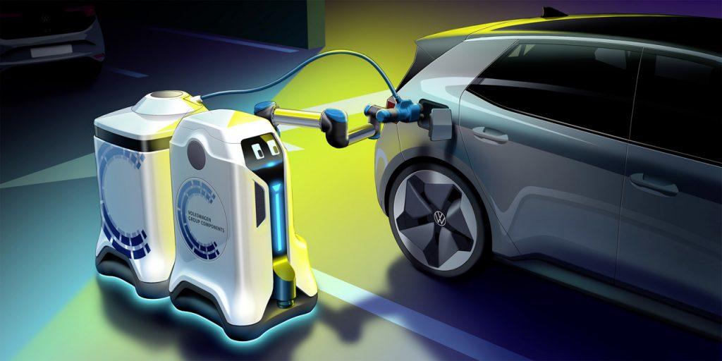VOLKSWAGEN: Rewolucja w garażu – robot do ładowania akumulatorów