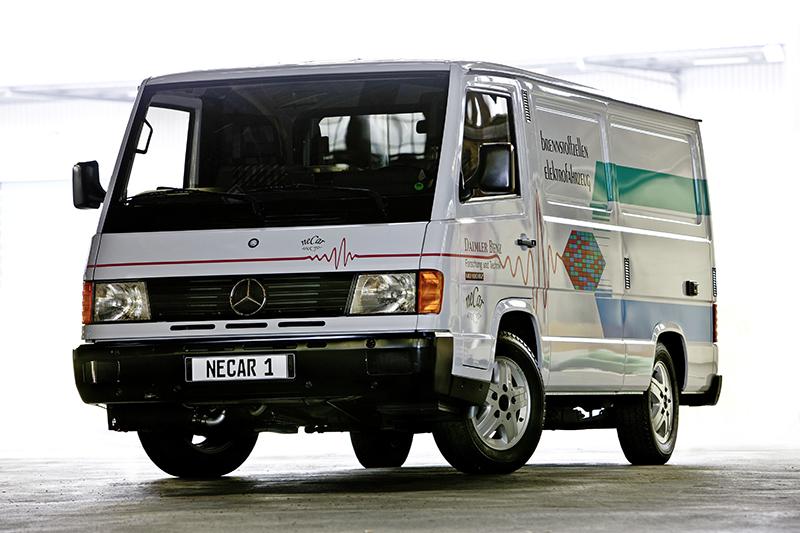 NECAR był kamieniem milowym elektromobilności – dziś można go oglądać w Muzeum Mercedesa w Stuttgarcie.